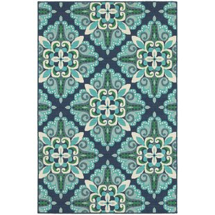 Kailani Contemporary Blue Green Indoor Outdoor Area Rug By Beachcrest Home