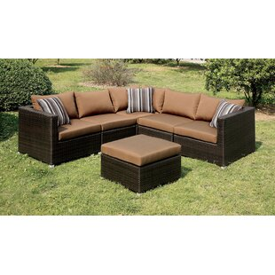 Brayden Studio Chery Patio Sectional with Cushions
