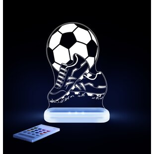 Lumenico Aloka Starlights LED Soccer Ball and Shoes Night Light with Remote Control