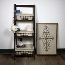 Foldable Wood 44 Leaning Bookcase by JIA HOME