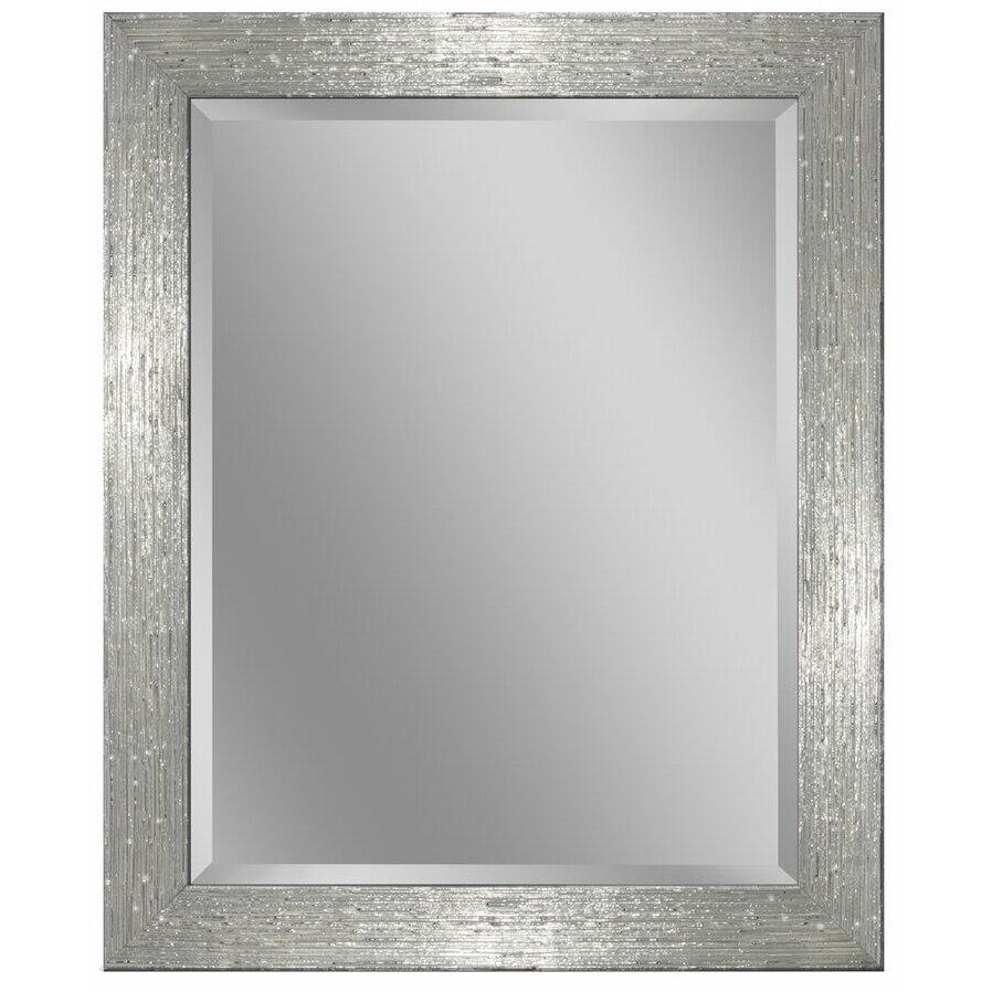 Latitude run driftwood beveled edge bathroom vanity wall mirror wayfair for Bevelled edge bathroom mirror