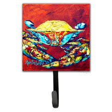 Crab Wrinkles Leash Holder and Wall Hook by Caroline's Treasures