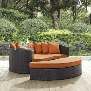 Ryele Outdoor Patio Daybed With Cushions