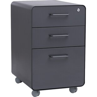 Poppin 3-Drawer Mobile Vertical File Cabi..