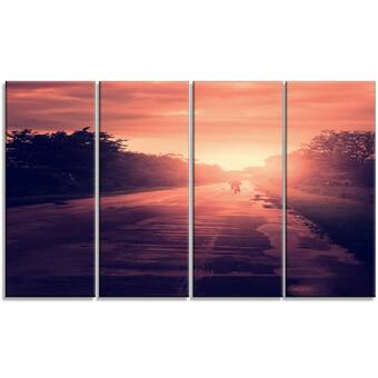 Designart Beautiful Jungle With Fog At Sunset Photographic Print On Wrapped Canvas Wayfair