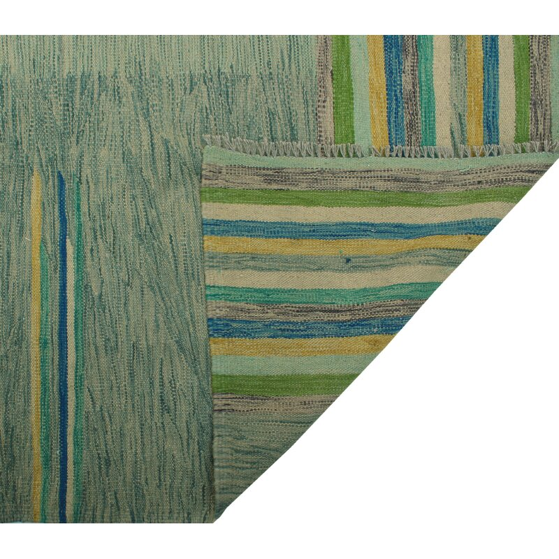 Foundry Select Benge Hand Knotted Wool Aqua Green Area Rug Wayfair