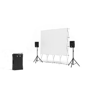 QuickScreen Series White Portable Projection Screen