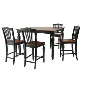 Mirella 5 Piece Counter Height Dining Set