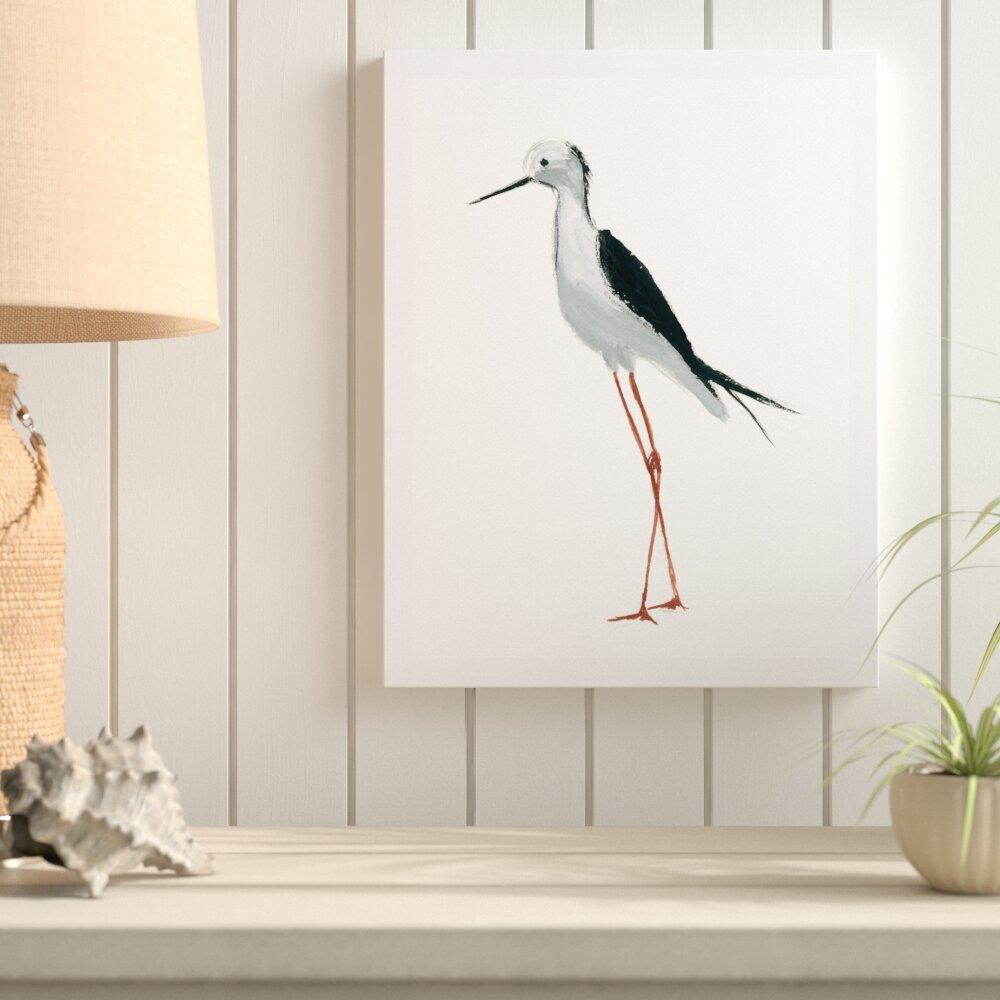 Highland Dunes \'Painted Bird\' Framed Watercolor Painting Print | Wayfair