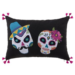 Mr. and Mrs. Sugar Skull Lumbar Pillow
