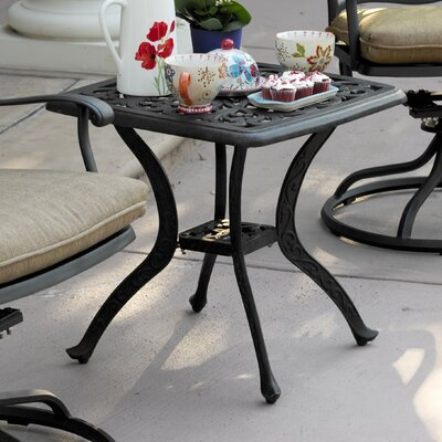 Fairmont Aluminum Side Table by Astoria Grand Discount