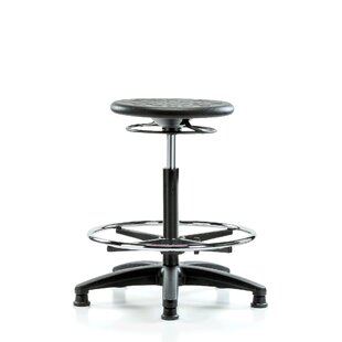 Height Adjustable Industrial Stool with Foot Ring