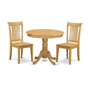 Brendan 3 Piece Breakfast Nook Solid Wood Dining Set by August Grove Comparison