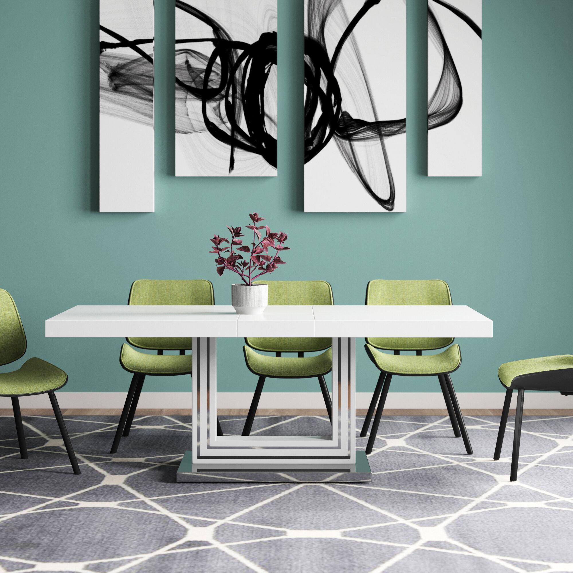 Knott Modern Extendable Dining Table