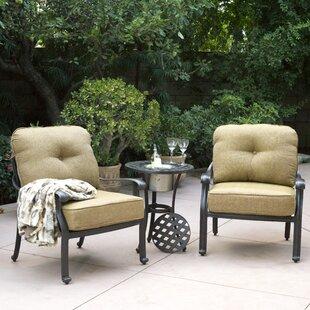 Three Posts Lebanon 3 Piece Conversation Set with Cushions
