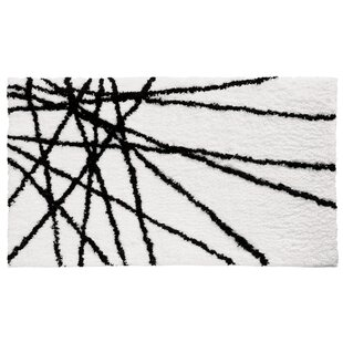Great Price Abstract Black / White Area Rug By InterDesign