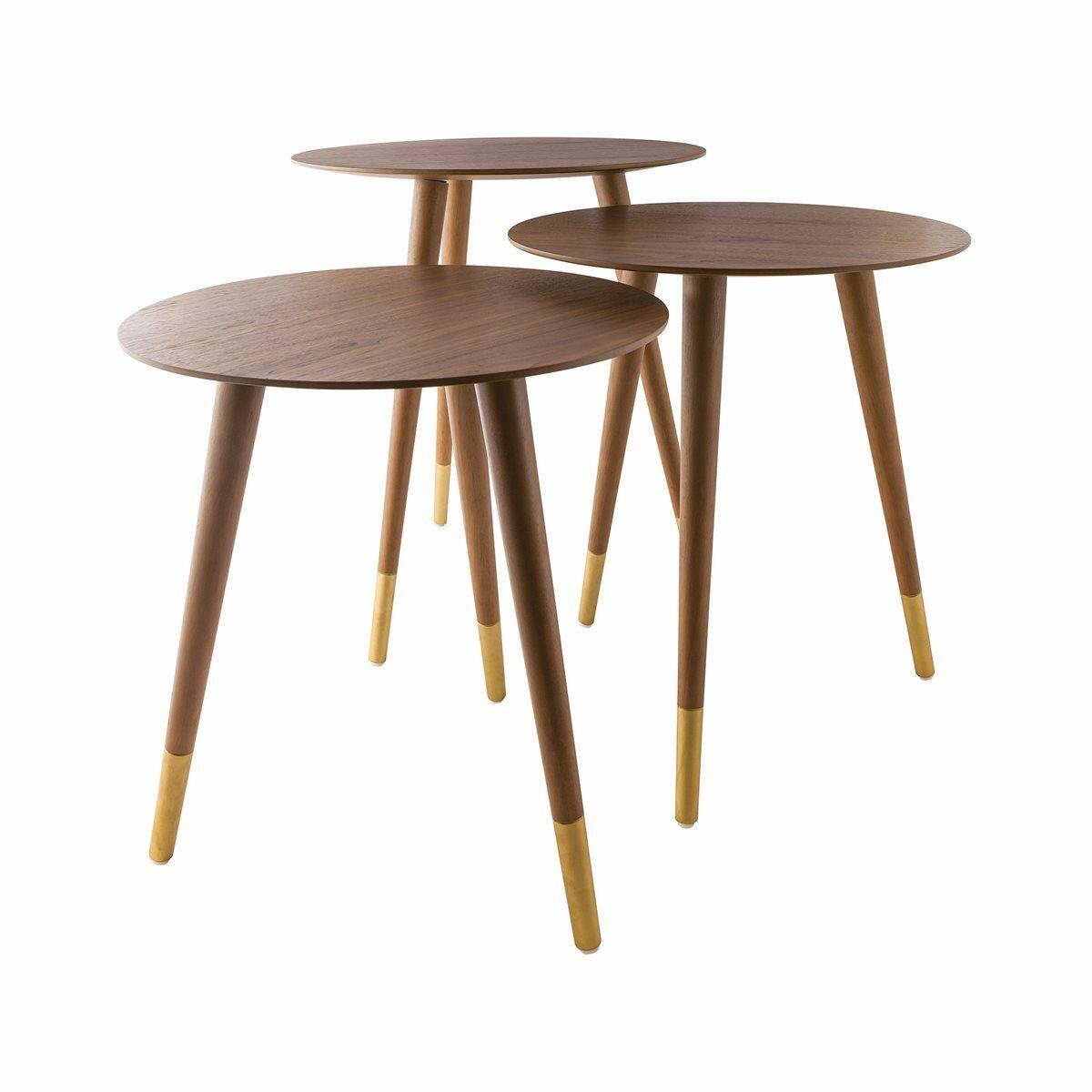 Corrigan Studio Giese 3 Legs End Table Set Wayfair