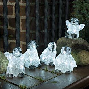 5 Piece Baby Standing Penguins Lighted Display Set By Konstsmide