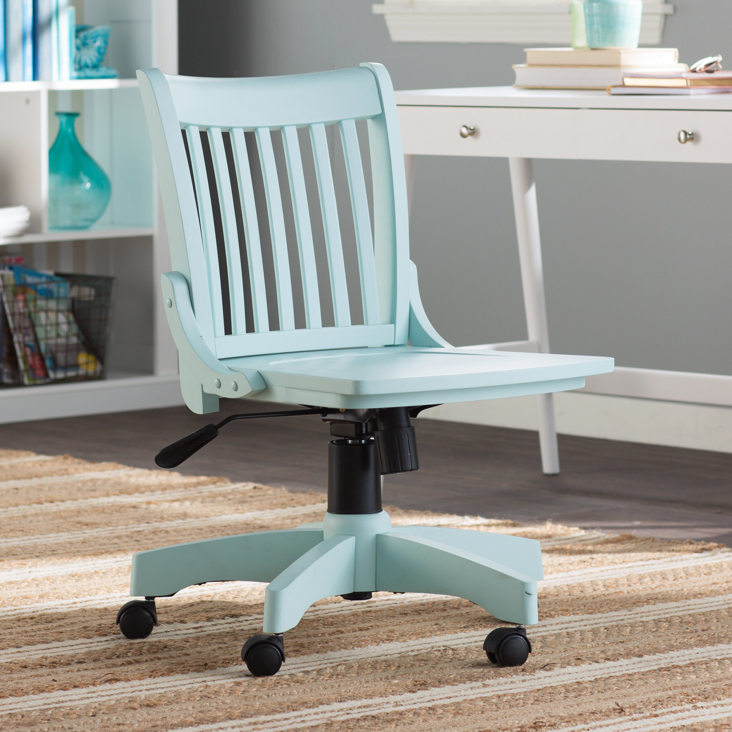 product metal vintage industrial chair desk chairish lux aqua