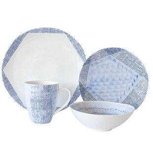 Waterfall 16 Piece Dinnerware Set Service for 4  sc 1 st  AllModern & Dinnerware Sets - Modern u0026 Contemporary Designs | AllModern