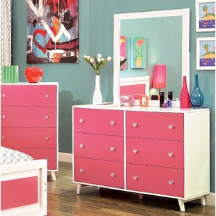 Aster 6 Drawer Double Dresser