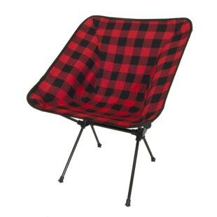 Loon Peak Winston Buffalo Plaid Folding Camping Chair