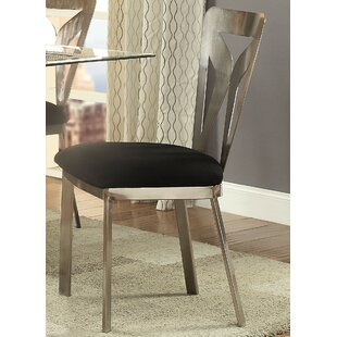 Helena Metal Square Back Side Chair In Satin Plated (Set Of 2) By Orren Ellis