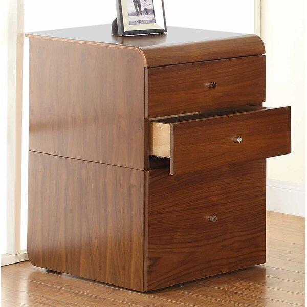 Jual Curve 3-Drawer Vertical Filing Cabinet & Reviews | Wayfair.co.uk