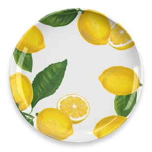 Compare Price Lemon Fresh Dinner Plate (Set Of 4)