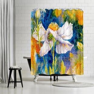 Sunshine Taylor Matilija Magic Single Shower Curtain