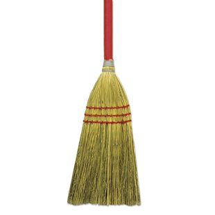 Corn / Fiber Lobby Broom in Gray and Natural