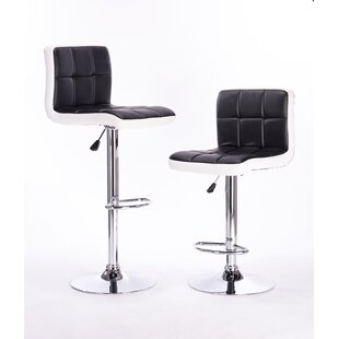 Adjustable Height Swivel Bar Stool (Set of 2) Attraction Design Home