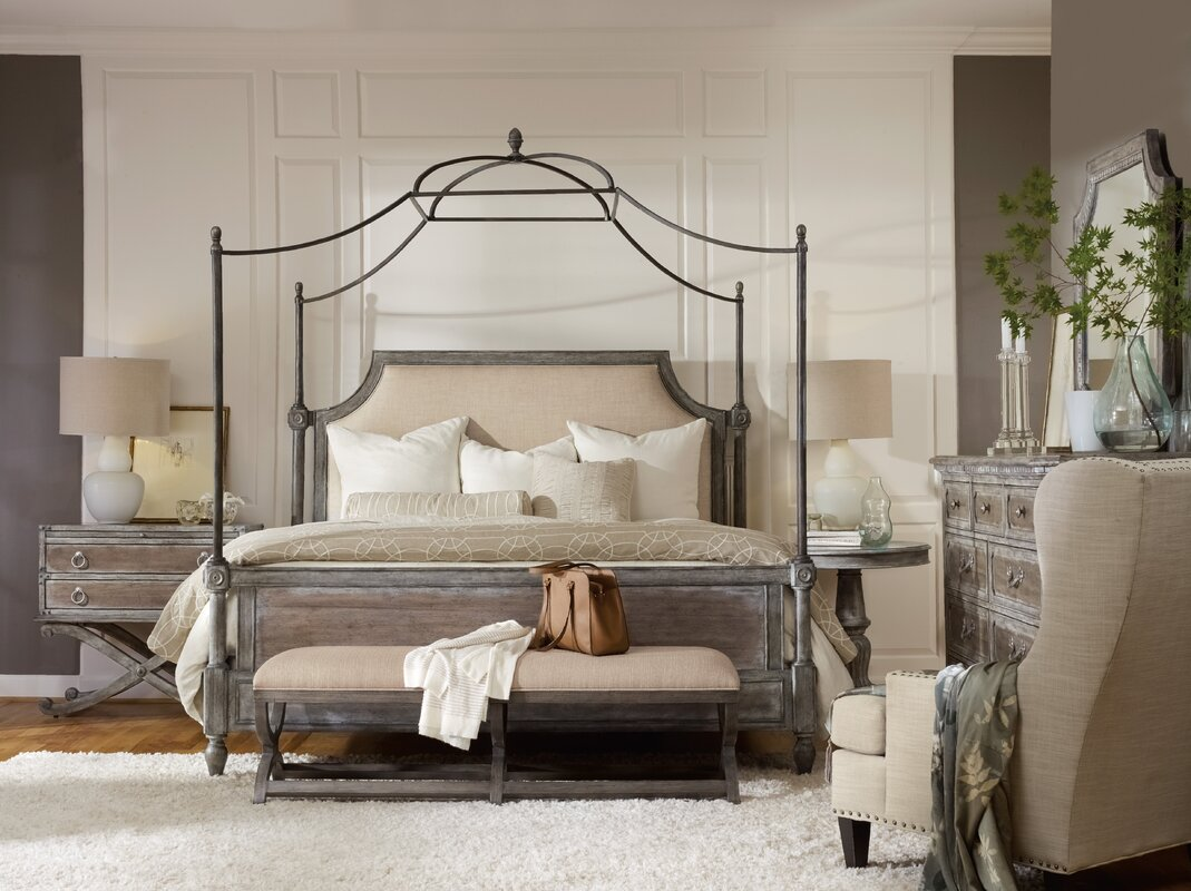 Beautiful True Vintage Canopy Configurable Bedroom Set
