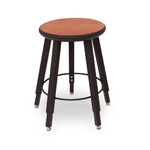 Adjustable Height Round Laminate Armor Edge Seat 5 Leg Stool