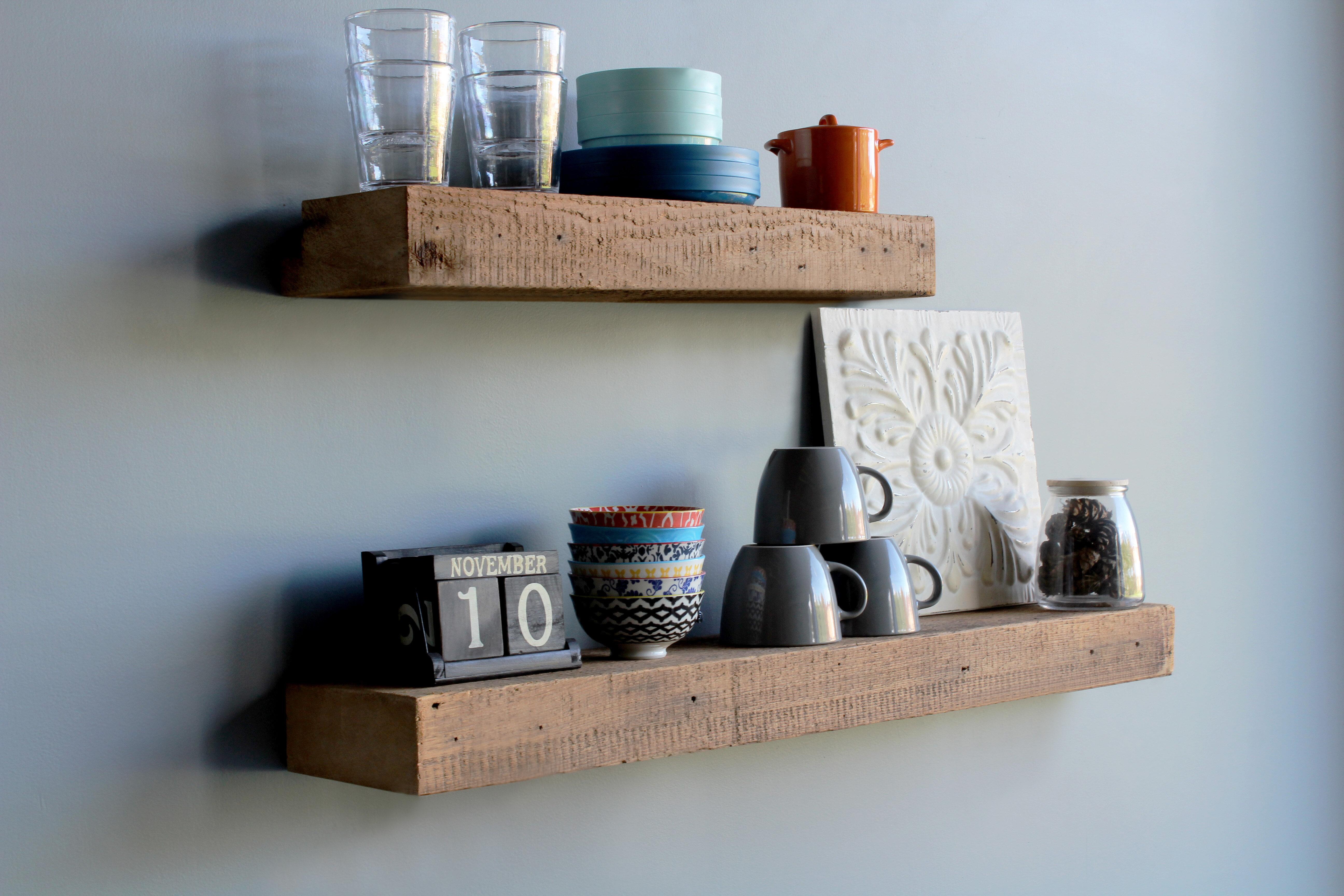 loon peak mcfarlane 2 piece solid wood floating shelf w piid=