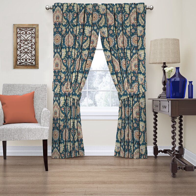curtain darkening single naturefloral hall clifton curtains waverly nature panel pdx rod pocket floral treatments room window