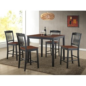 Anja 5 Piece Dining Set by Roundhill Furniture