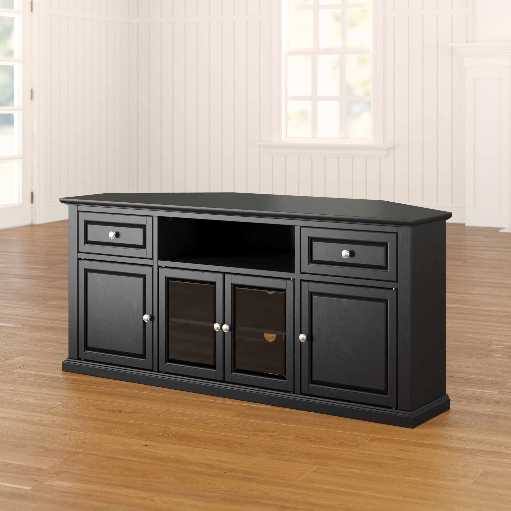 Picture of: Charlton Home Whittiker Corner Tv Stand For Tvs Up To 65 Reviews