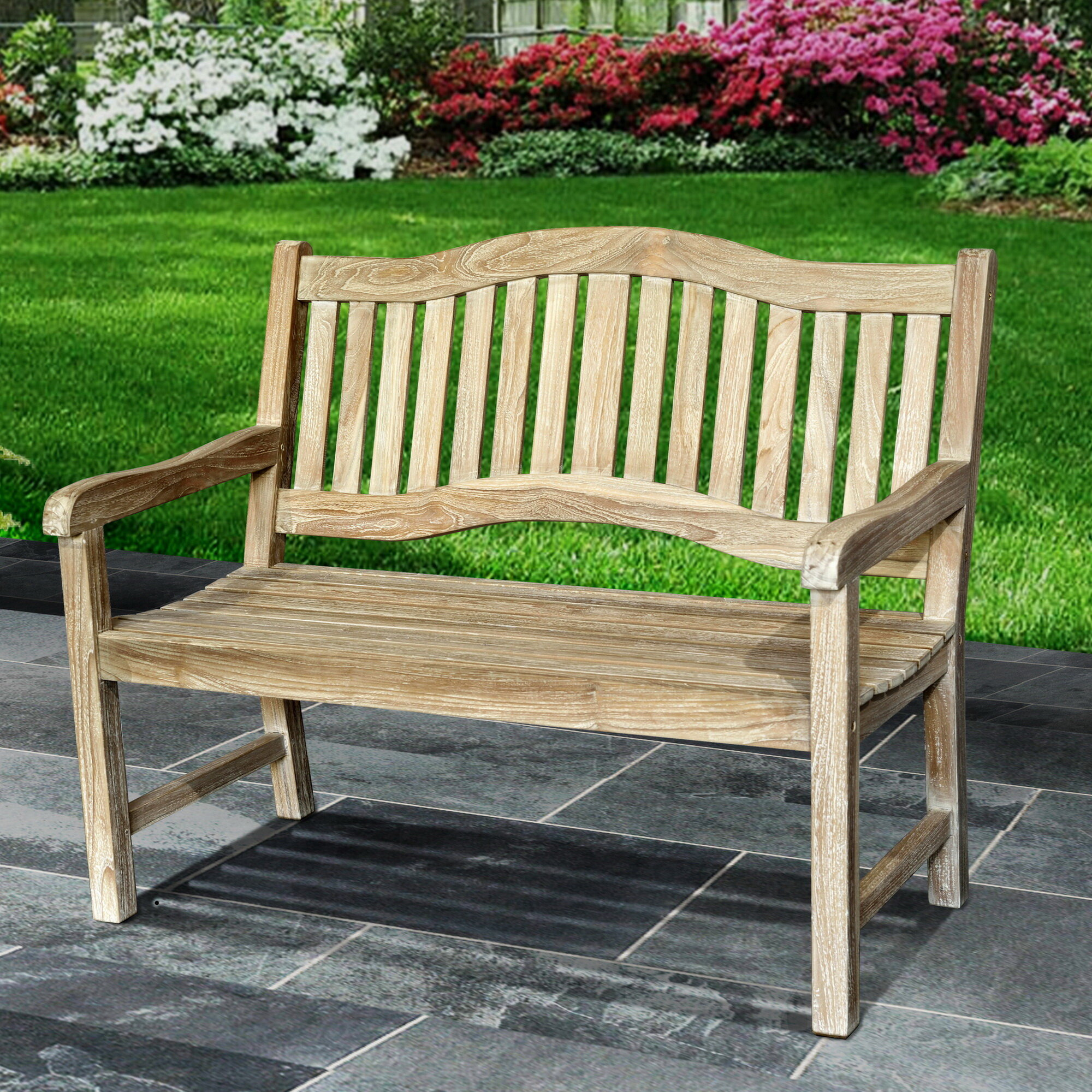 Remarkable Mcintyre Teak Park Bench Alphanode Cool Chair Designs And Ideas Alphanodeonline