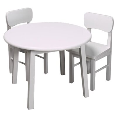 Zoomie Kids Damato Kids 3 Piece Table and Chair Set Color: White