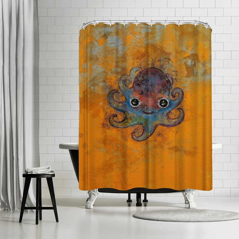East Urban Home Michael Creese Baby Octopus Shower Curtain