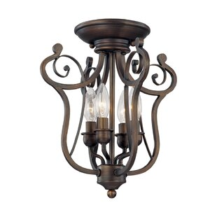Fleur De Lis Living Samson 4-Light Semi Flush Mount