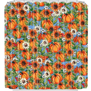 Pumpkin Harvest Single Shower Curtain