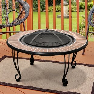 Hokku Designs Charren Cast Iron Charcoal Fire Pit Table