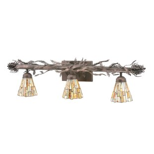 Greenbriar Oak Pine Branch 3-Light Vanity Light By Meyda Tiffany