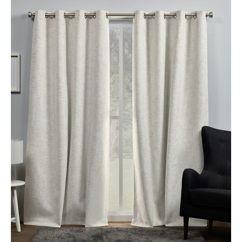 Gracie Oaks Palni Burke Solid Max Blackout Thermal Grommet Curtain Panels Reviews Wayfair