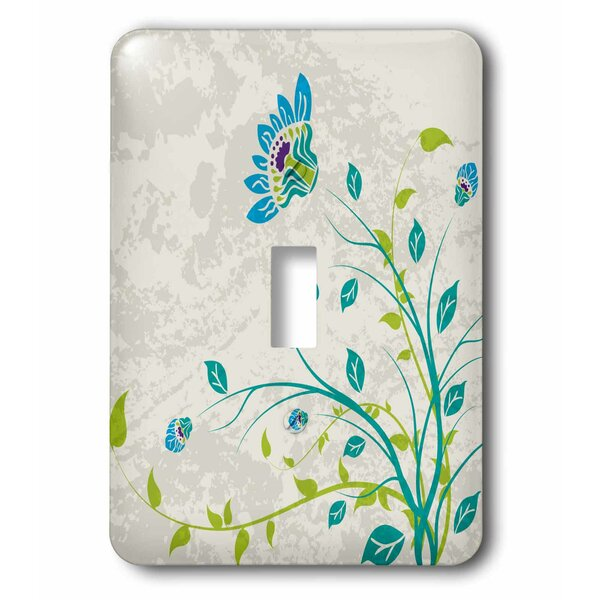 3drose Art Nouveau Style Flowers On Grunge Floral Decorative Nature 1 Gang Toggle Light Switch Wall Plate Wayfair