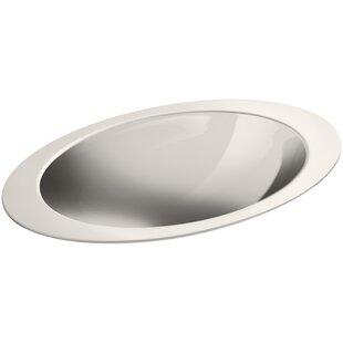 Kohler Rhythm Metal Oval Drop-In Bathroom Sink