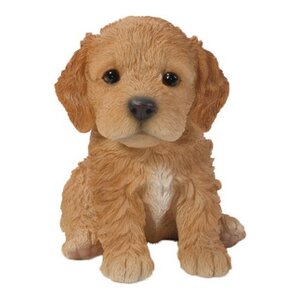 Sitting Cockapoo Puppy Statue