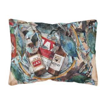 Winston Porter Seeman Crystal Hot Sauce With Seafood Indoor Outdoor Throw Pillow Wayfair